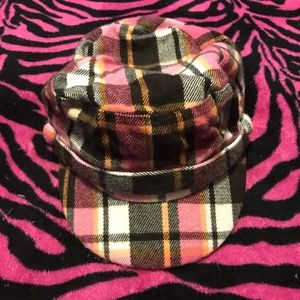 Pink Plaid Ladies D&Y Cadet Hat! Great for fall!